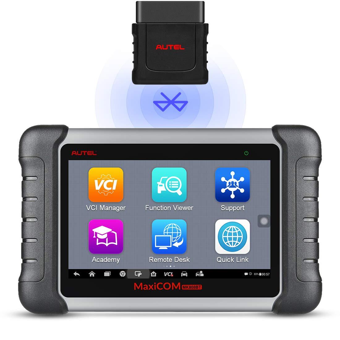 Autel MaxiCOM MK808BT OBD2 Scanner Wireless Bluetooth&Full System Diagnostic Tool with Oil Reset/EPB/BMS/SAS/DPF/TPMS, Advanced Version of MK808