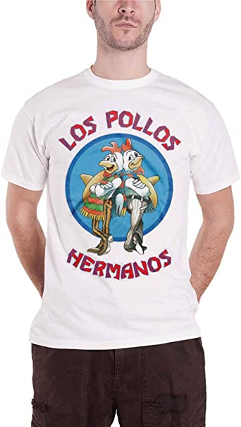 Officially Licensed Merchandise Breaking Bad Los Pollos Hermanos T-Shirt (White): Amazon.es: Ropa y accesorios