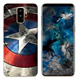 Ailiber Galaxy S9+ Plus Slim Case, Captain America Shield Superman Slim-Fit Anti-Scratch Anti-Finger Lightweight Soft TPU Protective Cover Protector for Samsung Galaxy S9 Plus (6.2 inch) - Captain