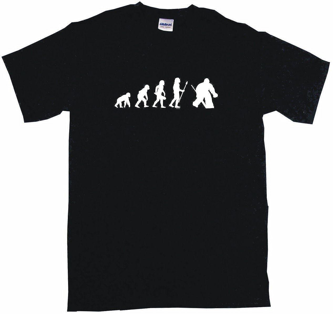 Evolution of Humans Hockey Goalie Logo Big Boy's Kids Tee Shirt