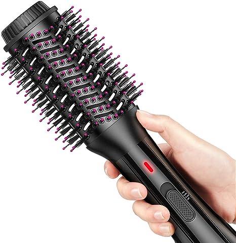 AEVO Brosse Soufflante, Brosse Sèche Cheveux & Volumateur, 4 en 1 pour Lisser, Sécher, Boucler et Styler les Cheveux, [Salon Styling] [Ionique]