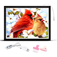 HomeCraftology Diamond Painting A3 Light Pad, Ultra-Thin Tracing Drawing Board, Stepless Adjusted Dimmable Brightness…