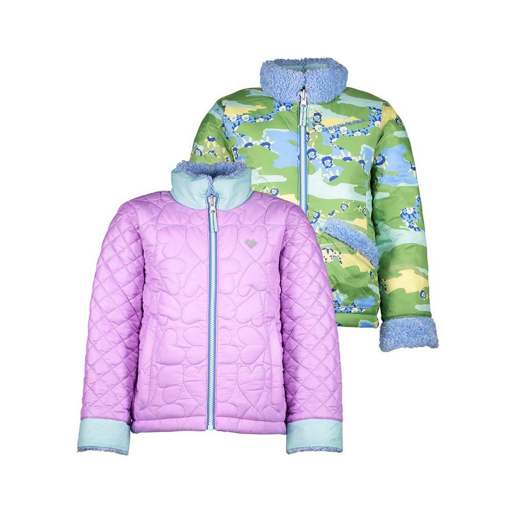 Obermeyer Kids Baby Girls Jitterbug Reversible Jacket Toddler//Little Kids//Big Kids Violetta 3T