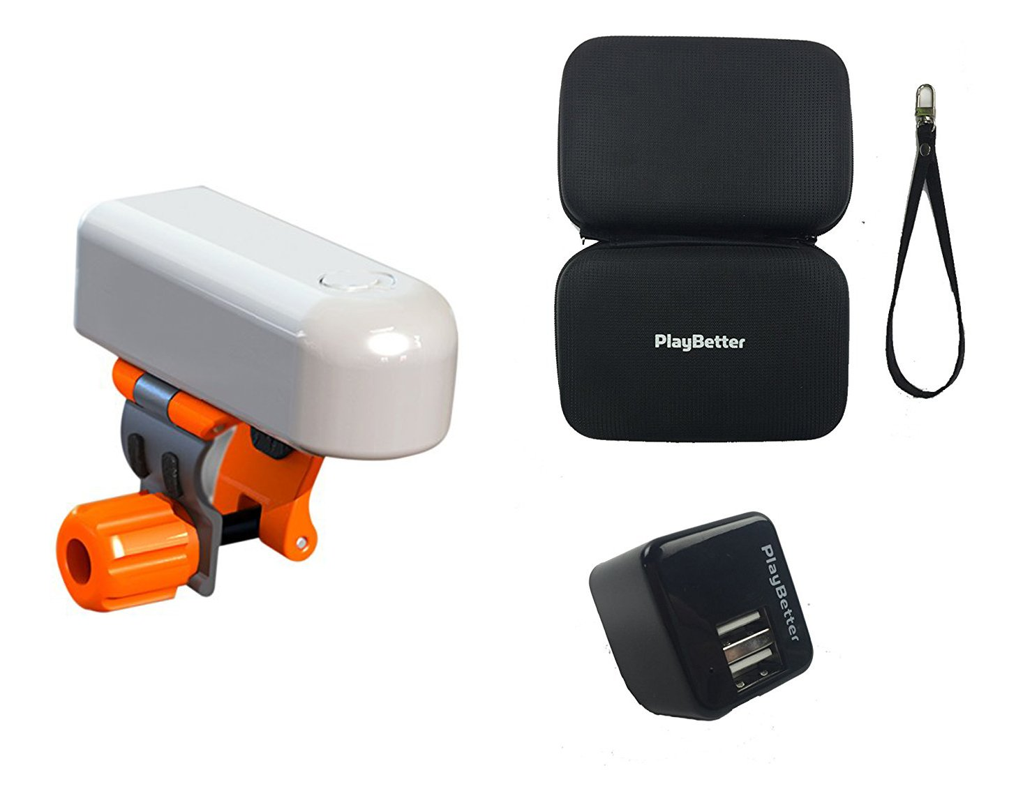 SkyCaddie SkyPro Golf Swing Analyzer BUNDLE with PlayBetter Hard Carry Case & USB Wall Adapter | Instant 3D Swing Analysis