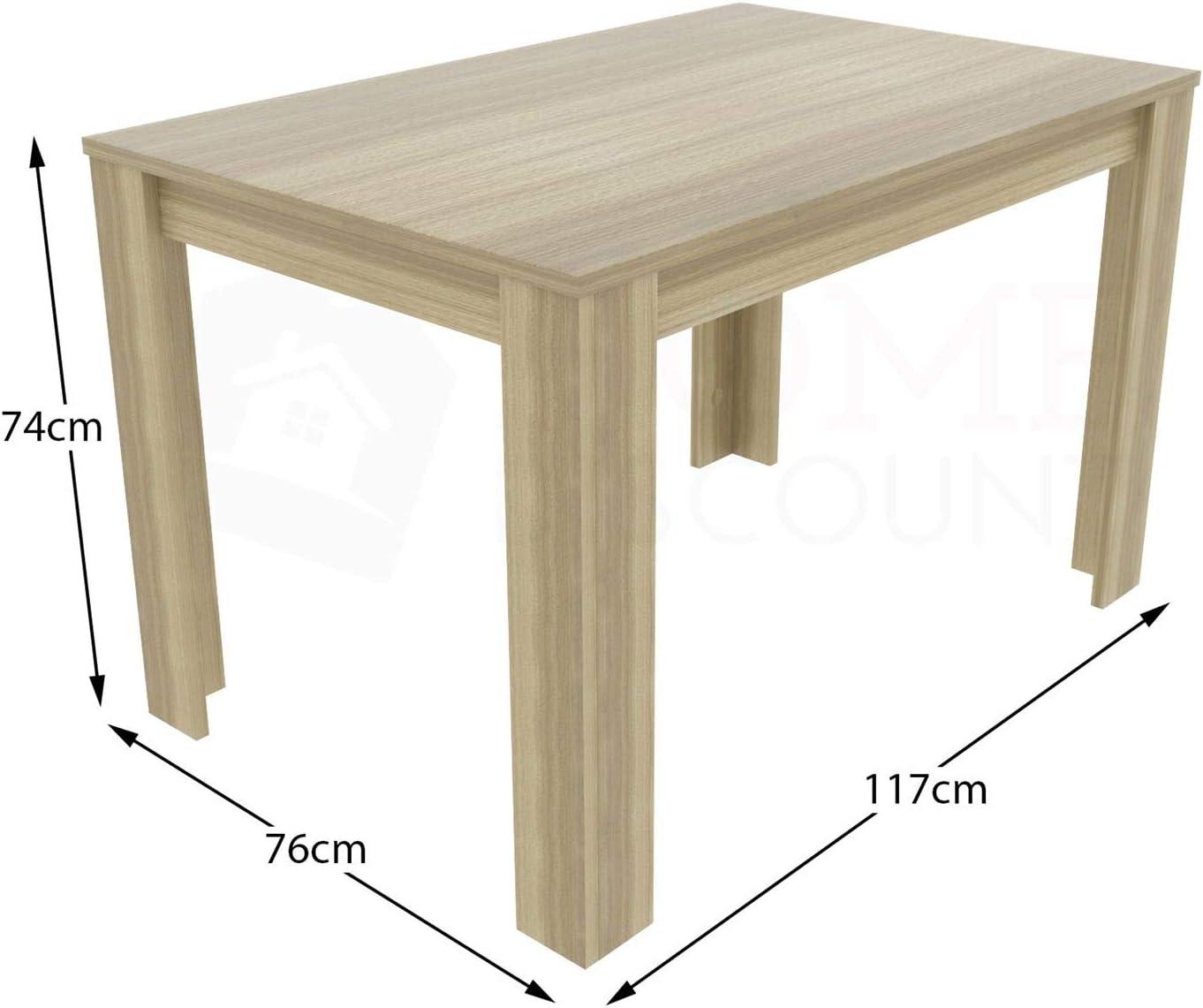 Vida Designs Medina 4 Seater Dining Table Oak Canterbury 4 Pu Faux Leather Black Oak Dining Chairs Modern Kitchen Dining Room Furniture Set
