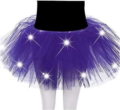 FABSELLER Falda de Ballet Luminosa LED para Adulto, Falda de Malla ...