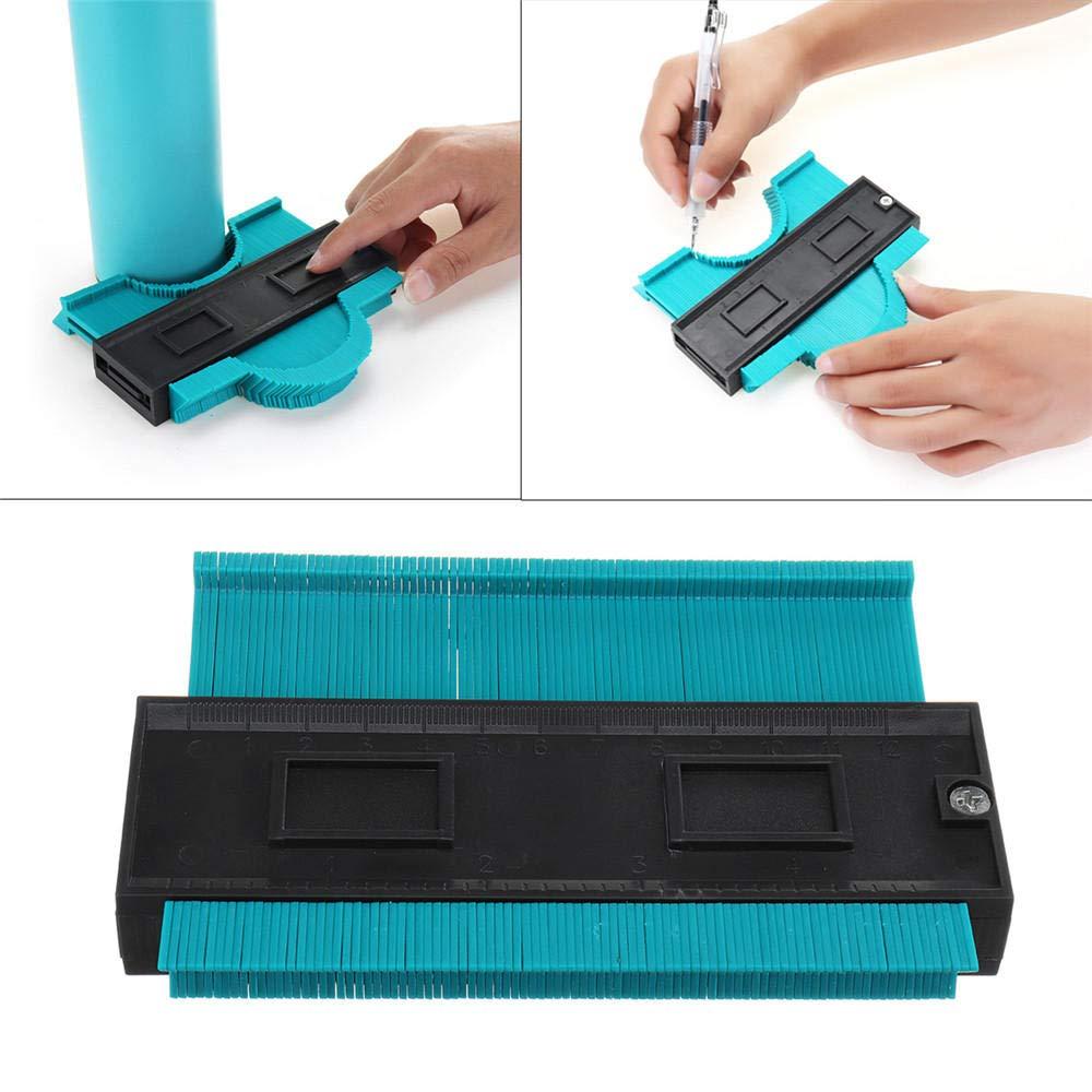 xingxinqi Contour Gauge Duplicator 5 Inch Plastic Multifunction Rules with Vernier Caliper