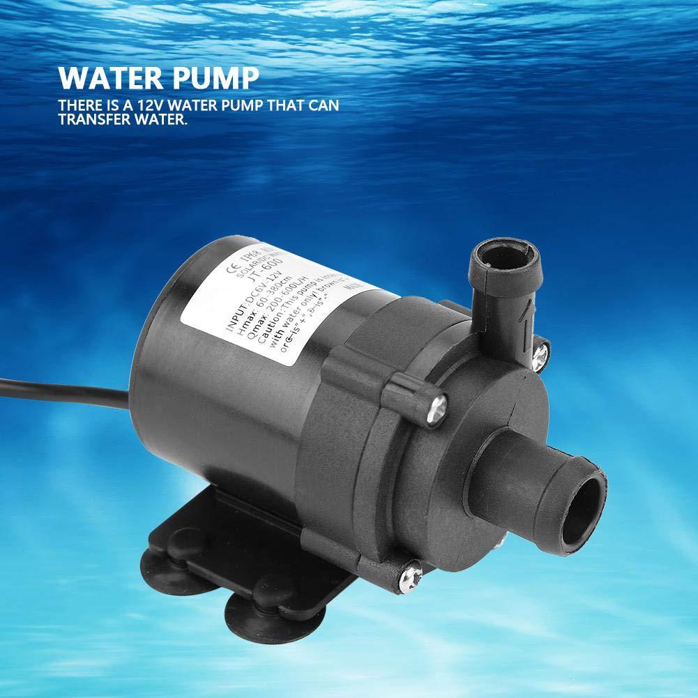 Mini Bomba de Agua sin escobillas DC para Estanque de Peces peque/ño 12V 40 ℃ ~ 100 ℃ para Acuario Fuente Suchinm Bomba de Agua sin escobillas