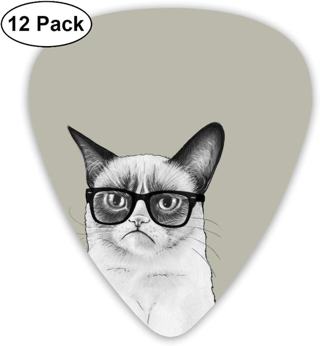Amazon Com Cute Cat Drawing Wallpaper Guitar Picks 12 Ukulele