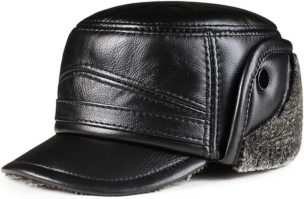 Sombrero de Gorra de béisbol para Hombre con Piel sintética y ...