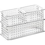 InterDesign Stack & Slide Storage Baskets (Set of 3), Clear