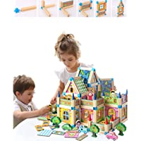 Architect Building Blocks Wooden Toy for 3-7 Years Kids , Boy and Girl Building Toy House Model Game (Architect Building…
