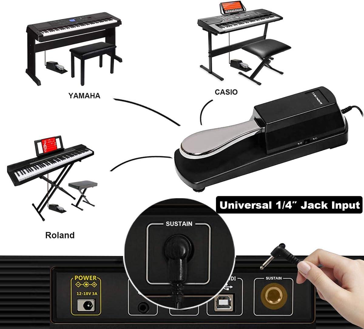 Estilo de Piano Sustain Pedal para Casio Yamaha Roland Korg Behringer Moog teclados electrónicos