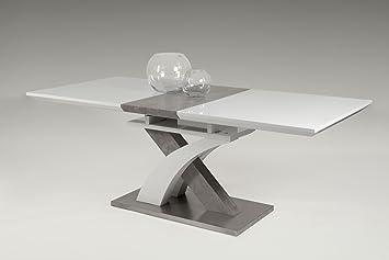 Esstisch, Küchentisch, Esszimmertisch, Tisch, Rechteckig, Beton Optik,  Ausziehbar,