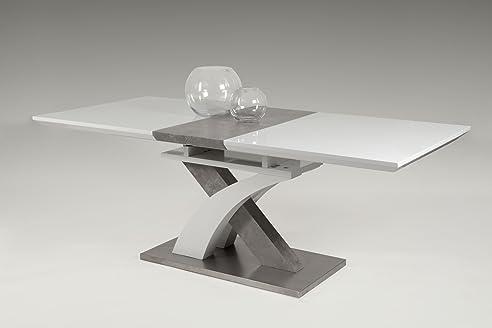 esstisch kchentisch esszimmertisch tisch rechteckig beton optik ausziehbar - Erweiterbare Konsole Esstisch