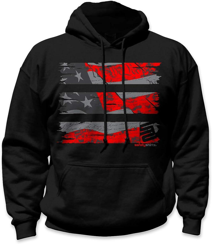 SafetyShirtz Stealth Old Glory Hoodie Reflective/Black