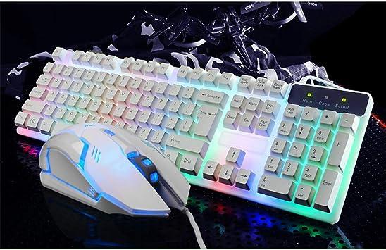 TYZDYY Teclado, Mouse para Juegos con Cable y Mouse Set ...