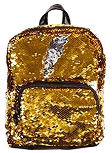 Style.Labs Magic Sequin Backpack, Gold/Silver (76594)