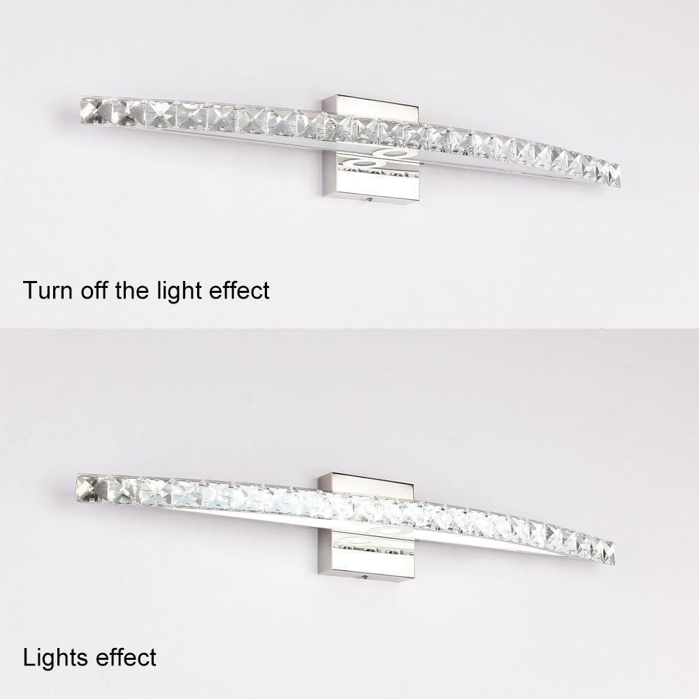 BANBUM Vanity Light 27.56 In 18W 6000K Daylight White LED Vanity Light crystal light fixture by BANBUM (Image #3)