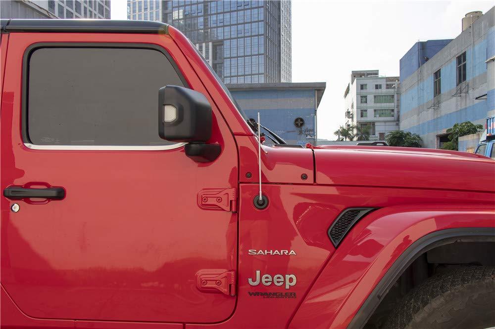 2007-2019 Jeep Wrangler JK and JL Direct Replacement Spiral Short Thread Screw Type Short Radio Antenna Silver, 33CM