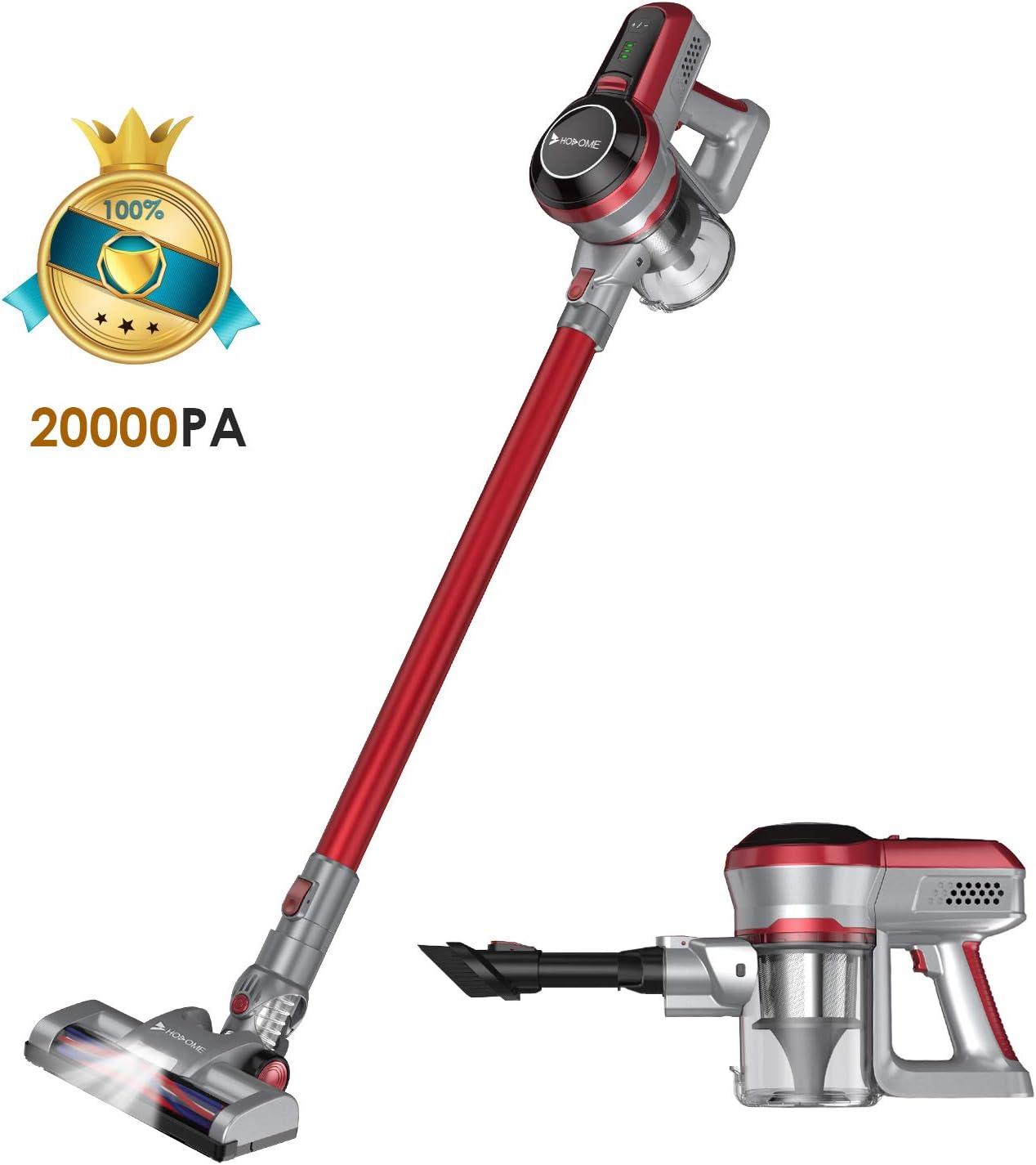 Hosome Aspiradora Hogar sin Cable 20000pa Aspirador de Mano 160W y Eficiente Sistema de Filtración 2200mAh para Pelos de Mascota Alfombra Piso y Autos