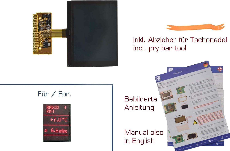 Gearworks Display Für A2 A3 8l A4 B5 A6 C5 Kombiinstrument Fis Mfa Für Vdo Reparatur Auto