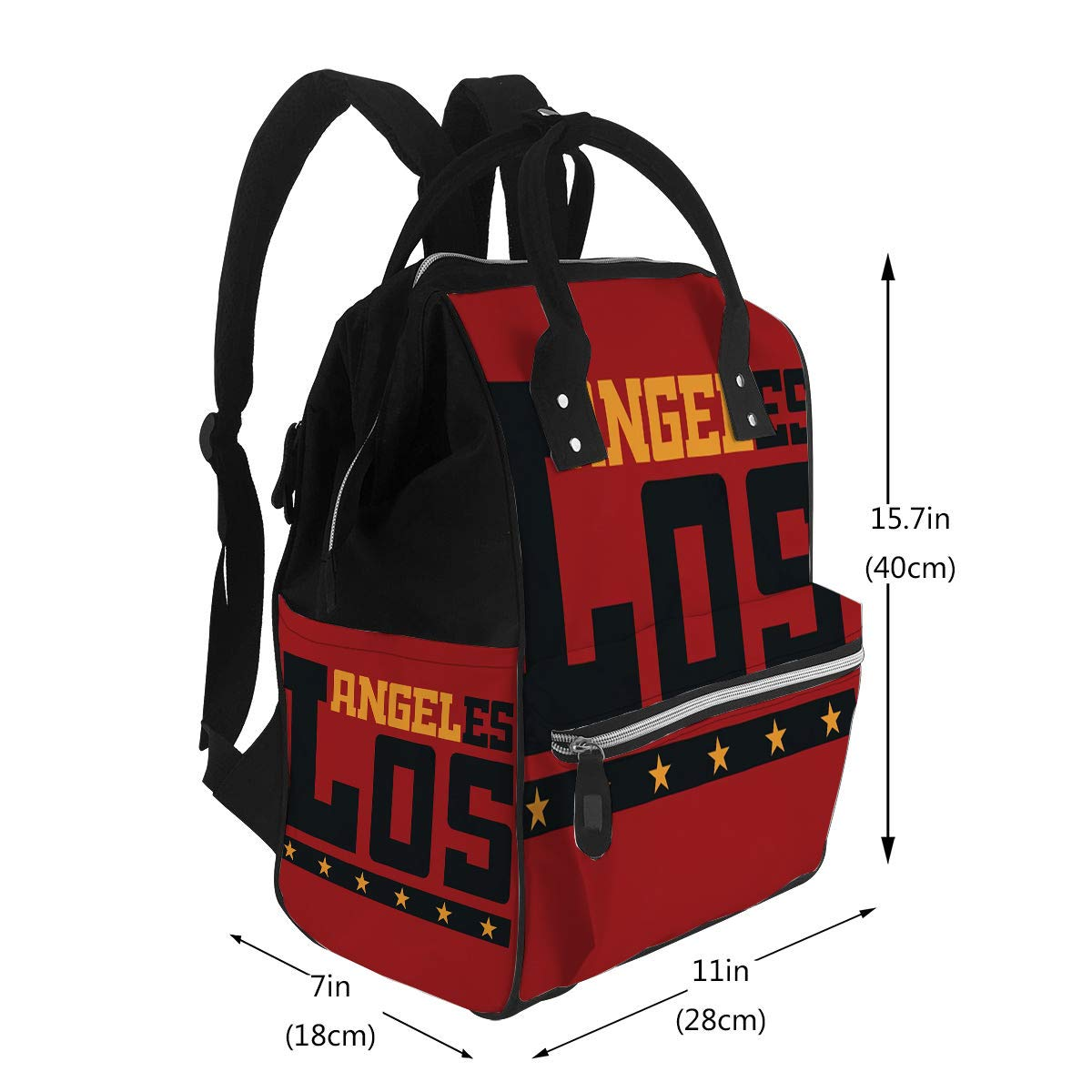 Nappy Bags Los Angeles California Athletic Style La Emblem Diaper Bags Backpack