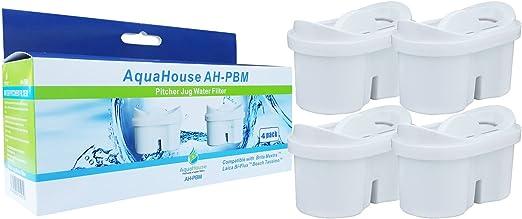 AquaHouse cartucho de filtro de agua compatible con Brita Maxtra jarra con filtro - 4 unidades: Amazon.es: Hogar