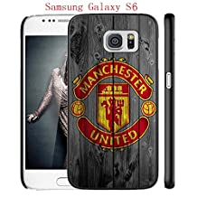 Samsung Galaxy S6 Case, Manchester United FC Soccer Team Logo 65 Drop Protection Never Fade Anti Slip Scratchproof Black Hard Plastic Case
