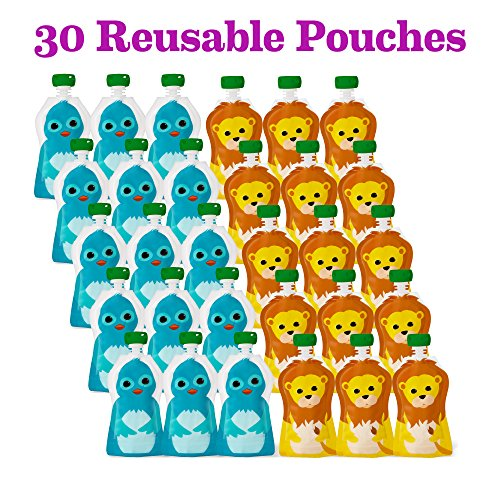 30 Reusable Baby Food Pouches product image