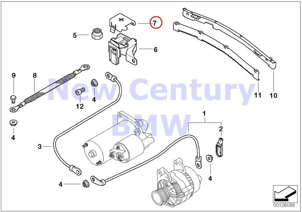 e46 engine bay diagram amazon com bmw genuine b terminal point engine compartment  amazon com bmw genuine b terminal