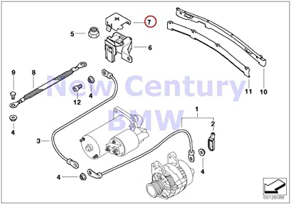 amazon com bmw genuine b terminal point engine compartment battery rh amazon com