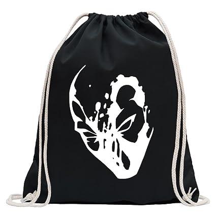 Kiwistar Silueta Máscara Deadpool Divertida Mochila Deportivo para el Fitness. Gymbag para lo Shopping de