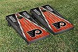 Philadelphia Flyers NHL Regulation Cornhole Game Set Weathered Triangle Version