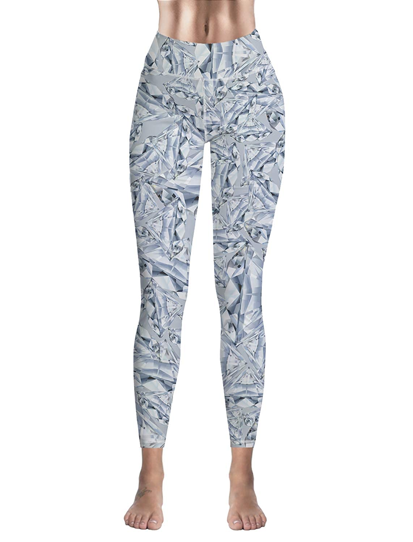Custom Leggings Women High Waist Soft Yoga Workout Stretch Printed Geometric Pattern Stretchy Capris Pants