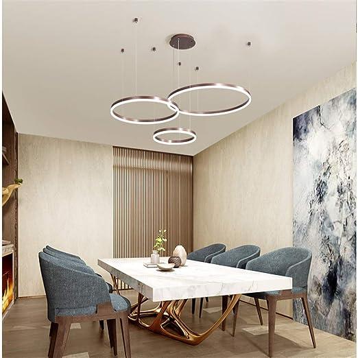 Lámpara colgante LED mesa comedor sala regulable con control ...