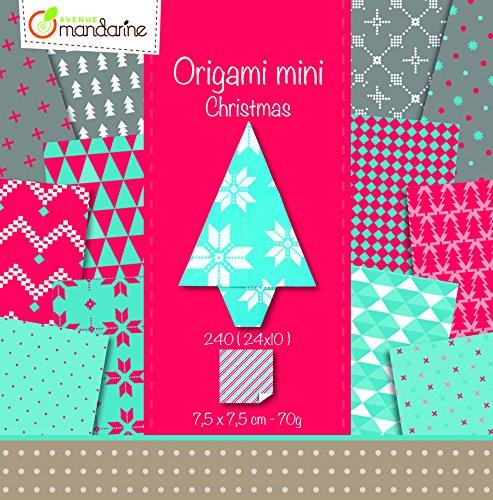 - Avenue Mandarine 7.5 x 2.5 x 7.5 cm Mini Origami, 70 g, Christmas