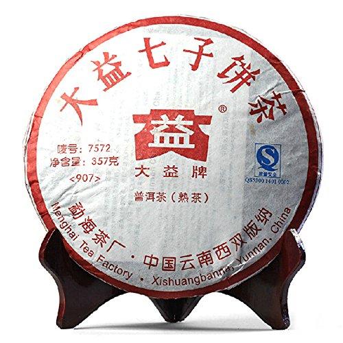Lida - 2009yr (7572) Menghai Dayi Ripe Puer Tea Cake - Yunnan Black Puerh Tea - 357g by Lida