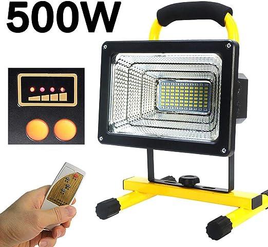 FNHGNG Foco LED Recargable Portátil 500W, Lámpara Proyector ...
