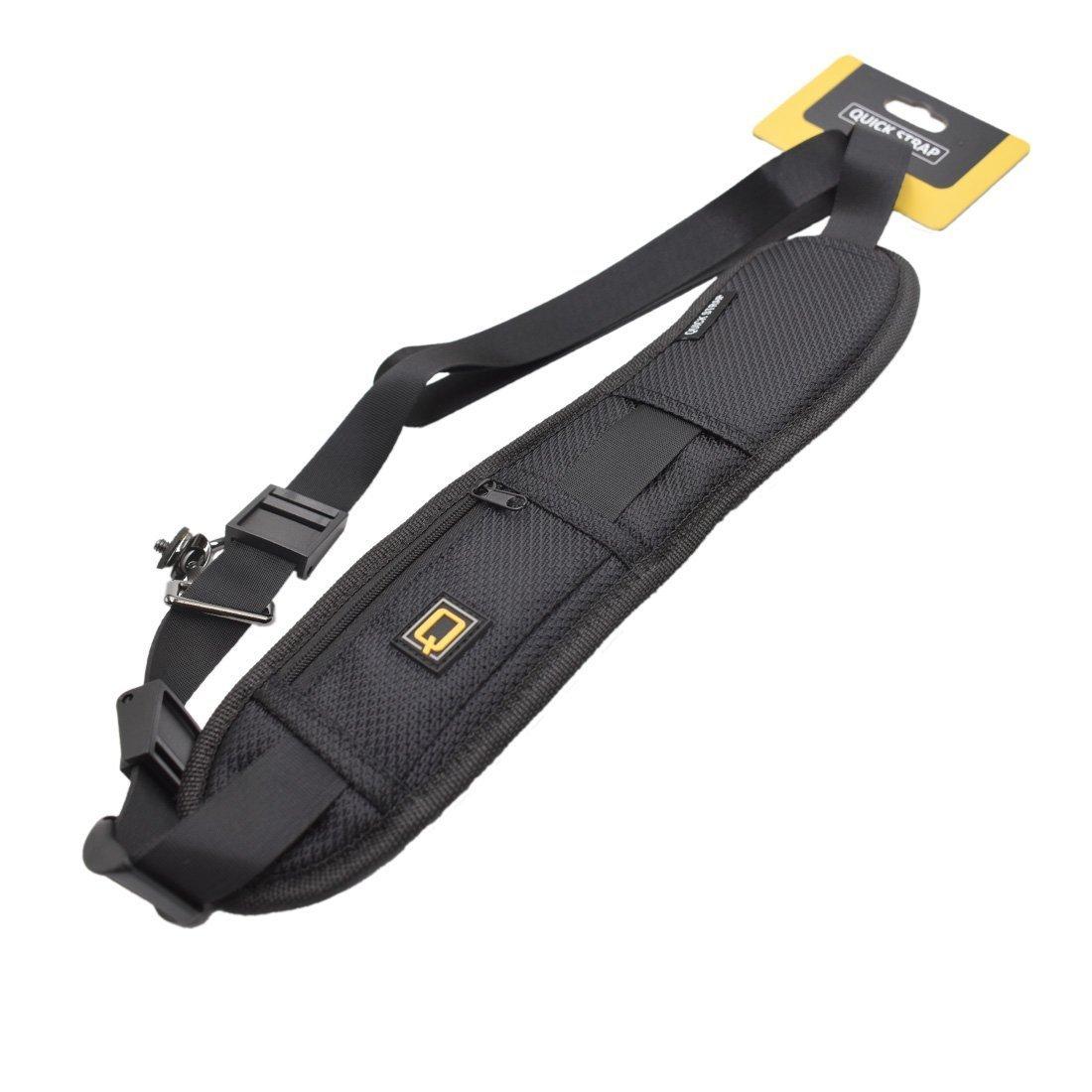 Color Negro DSLR Panasonic Correa de liberaci/¨/®n r/¨/¢pida para c/¨/¢Mara de Fotos Canon Nikon Sony Zhiyou