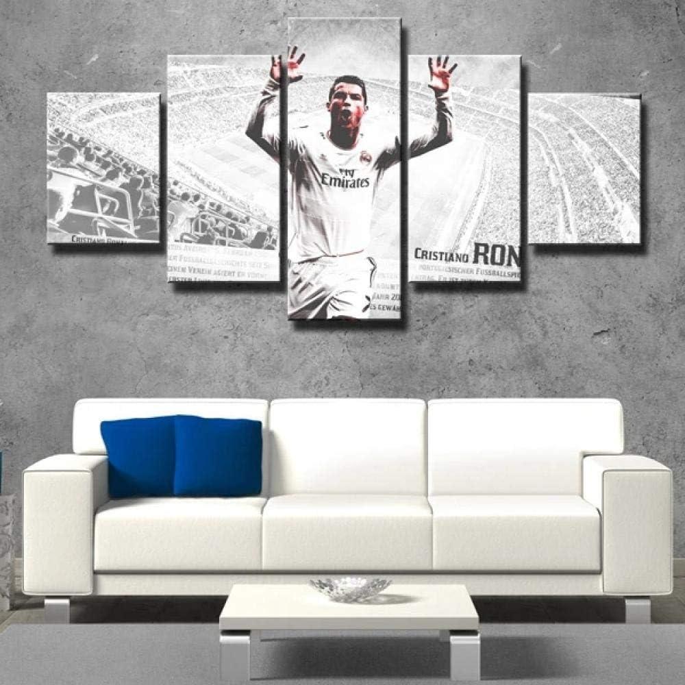 Yftnipl Cuadro Moderno En Lienzo 5 Piezas Cristiano Ronaldo ...