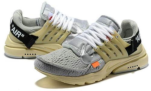 Off White X Air Presto Aa3830 002 Grey Zapatillas de Running para Hombre Mujer: Amazon.es: Zapatos y complementos