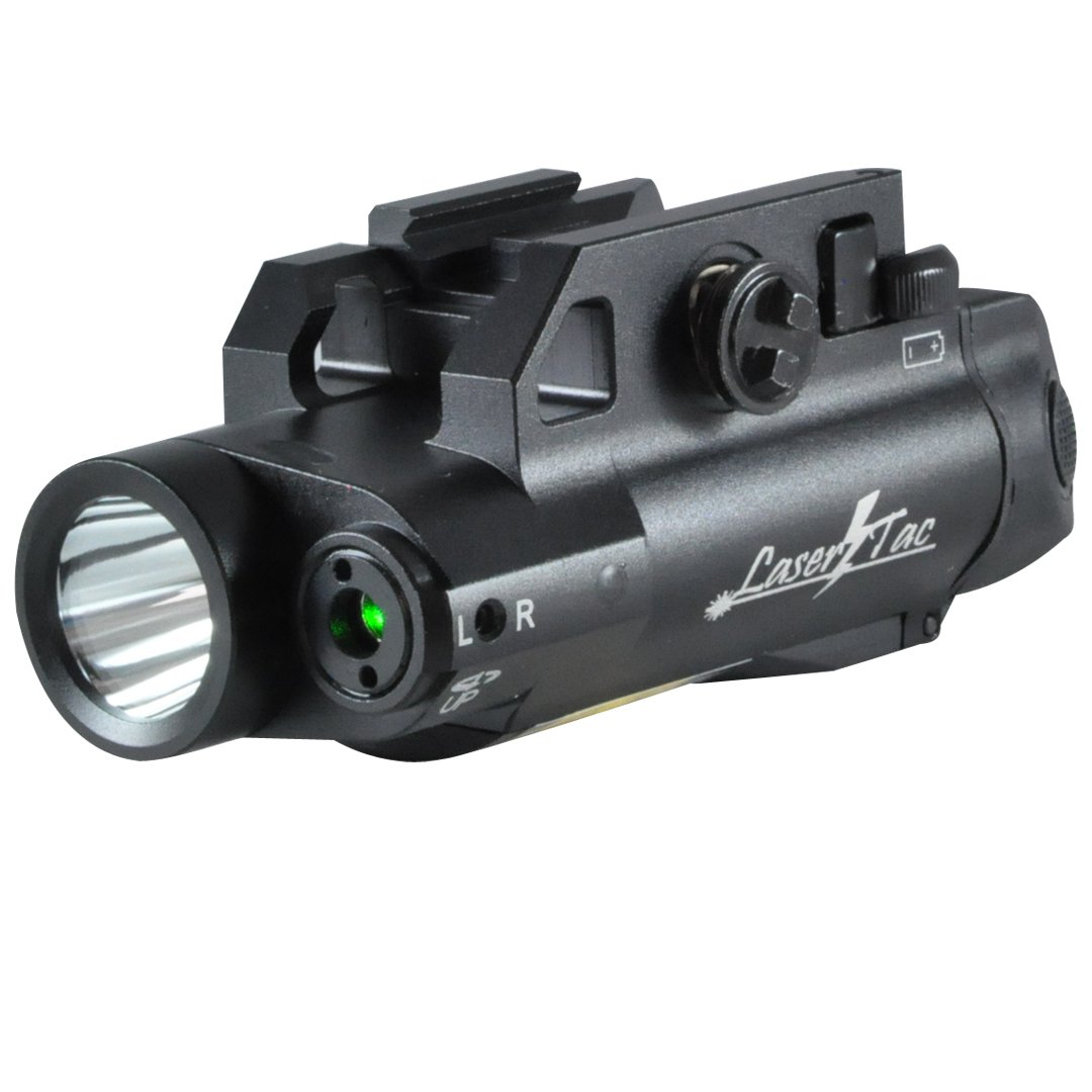 LaserTac CL7-G Green Laser Sight and Tactical Flashlight Combo for Pistol and Rifle with Remote Switch by LaserTac