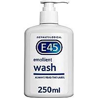 E45 Dermatological Emollient Crema de lavado, 250 ml.