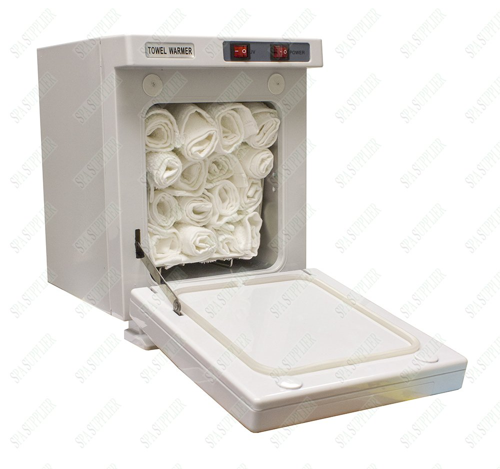 Compact Hot Towel Cabinet with UV Sterilizer with Free 12 Pack of 13 X 13 100% Cotton Towels