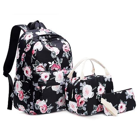 Amazon.com: ForHe - Juego de 3 mochilas de nailon con diseño ...