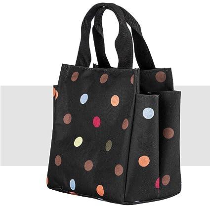 04208c13b8 Amazon.com  Portable cooler bag lunch bag lunch box bag lunch bag picnic bag  rice bucket bag thick aluminum foil waterproof lunch box bag (Color    Black)  ...
