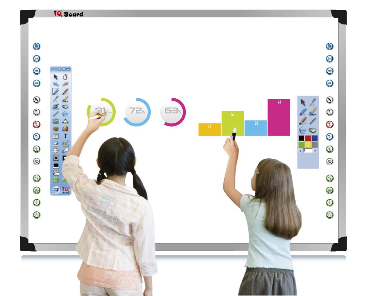 Pizarra digital interactiva iQBoard-ETK-80 170x128cm (78 ...