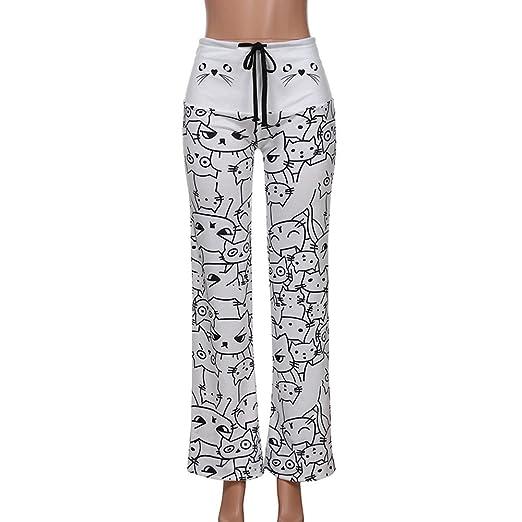 e099a89a9bc5f Amazon.com: UONQD Women Pants Casual New Fashion Cat Prints ...