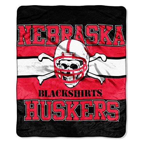 Nebraska Huskers Blanket Throw - NCAA Nebraska Huskers Blackshirts 50x60 Label Design Royal Plush Raschel Throw Blanket Cornhuskers